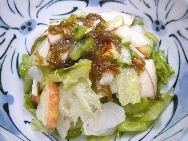 もずく自然薯サラダ ♪♪♪~粘るのにさわやかなサラダです ♪♪