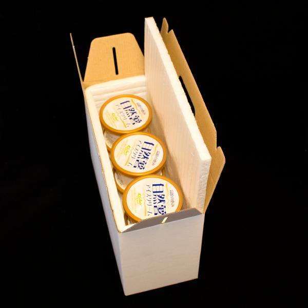 梱包イメージ 高原の恵みセット 自然薯アイス×3 急速冷凍とろろ×3 贈答セットの画像2